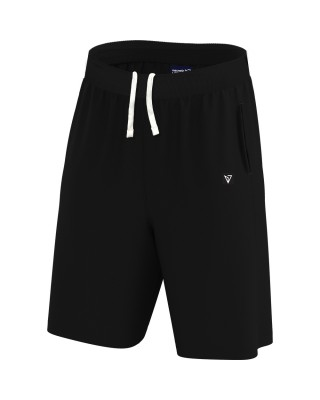 MENS BASIC FITNESS SHORTS 21023-ΜΑΥΡΟ ΜΑΥΡΟ