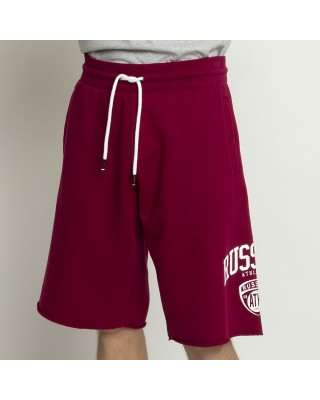 RUSSELL ATHLETIC ATHL-COLLEGIATE RAW EDGE SHORTS A1062-1-458 ER ΚΟΚΚΙΝΟ