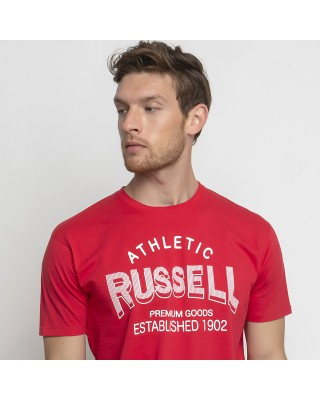 RUSSELL ATHLETIC ATHLETIC-S/S  CREWNECK TEE SHIRT A1011-1-424 CR ΚΟΚΚΙΝΟ