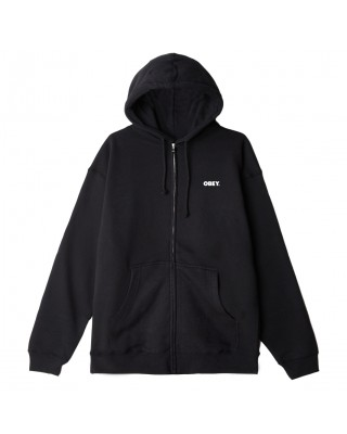 OBEY BOLD PREMIUM ZIP HOODED FLEECE 112852349-ΜΑΥΡΟ ΜΑΥΡΟ