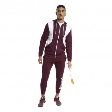 TE Linear Logo French Terry Tracksuit FS8466 ΜΠΟΡΝΤΩ