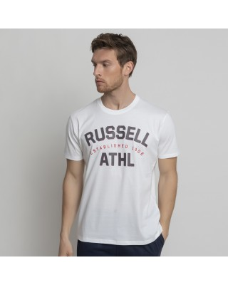 RUSSELL ATHLETIC ATHL-S/S  CREWNECK TEE SHIRT A1034-1-001 ΛΕΥΚΟ