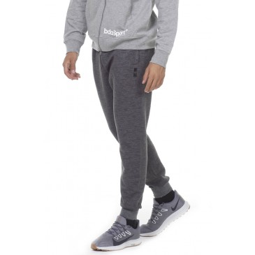 BODYACTION MEN SLIM FIT SWEAT PANTS 023011-01-ΓΚΡΙ ΓΚΡΙ