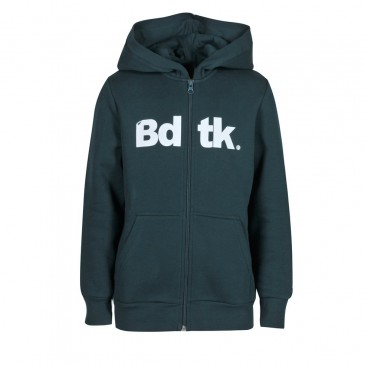 BDTKB HOODED ZIP SWEATER  1202-751022-629 ΠΡΑΣΙΝΟ