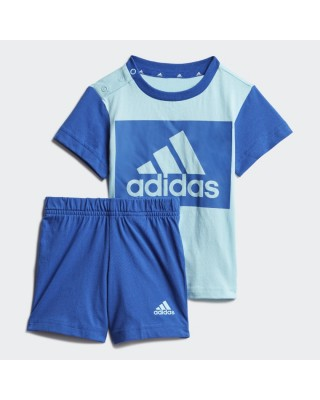 ADIDAS INFANTS ESSENTIALS T-SHIRT AND PANTS GN3928 ΜΠΛΕ