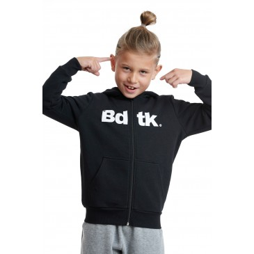 BDTKB HOODED ZIP SWEATER  1202-751022-100 ΜΑΥΡΟ