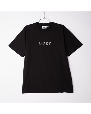 OBEY SMITH TEE SS 131080294-BLK ΜΑΥΡΟ