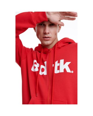 BDTKMCL HOODED ZIP SWEATER  1202-950022-300 ΚΟΚΚΙΝΟ