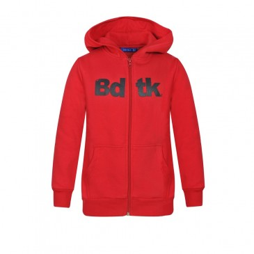 BDTKB HOODED ZIP SWEATER  1202-751022-300 ΚΟΚΚΙΝΟ