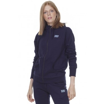 BODYACTION WOMEN HOODED JACKET 071003-01-ΜΠΛΕ ΜΠΛΕ
