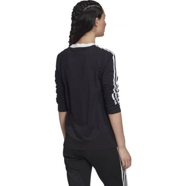 3 STRIPES LONG SLEEVE TEE FM3301 ΜΑΥΡΟ/ΛΕΥΚΟ