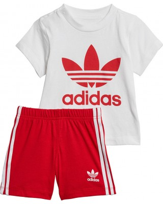 ADIDAS ORIGINALS SHORT TEE SET ED7667 ΛΕΥΚΟ/ΚΟΚΚΙΝΟ
