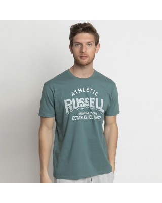 RUSSELL ATHLETIC ATHLETIC-S/S  CREWNECK TEE SHIRT A1011-1-247 P3 ΠΡΑΣΙΝΟ