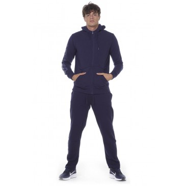 BODYACTION MEN STRAIGHT-LEG SWEATPANTS 023013-01-ΜΠΛΕ ΜΠΛΕ