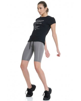 BDTKW HIGH WAIST CYCLIST LEGGINGS 2/4 # 90%PES 10%EA    1211-909014-726 ΑΣΗΜΙ