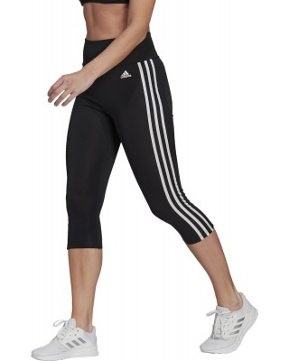 ADIDAS HIGH RISE 3-STRIPES 3/4 SPORT TIGHTS GL3985 ΜΑΥΡΟ/ΛΕΥΚΟ
